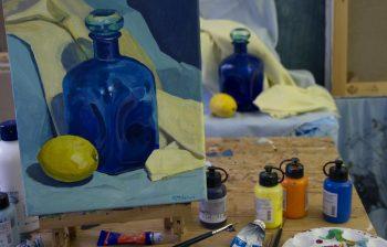 Acrylmalerei Flächen,Farb,Form Kunstschule Stade